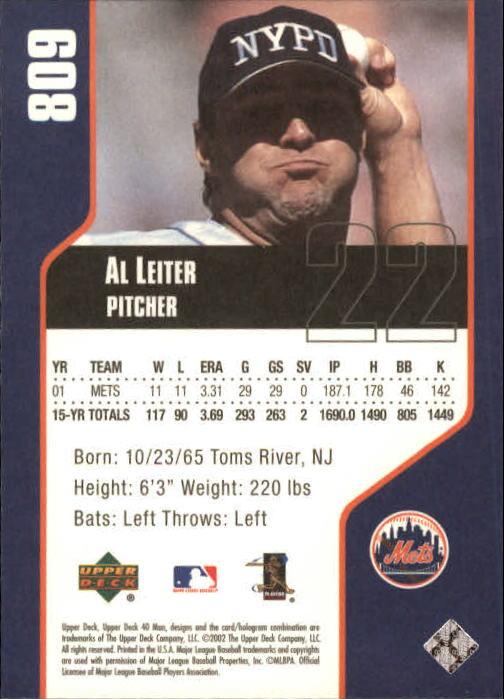 Details About 2002 Upper Deck 40 Man Baseball Card Pick 782 1128