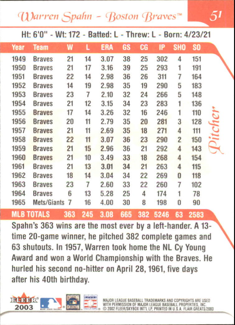 2003-Flair-Greats-BB-Card-s-1-100-Inserts-A1875-You-Pick-10-FREE-SHIP thumbnail 99