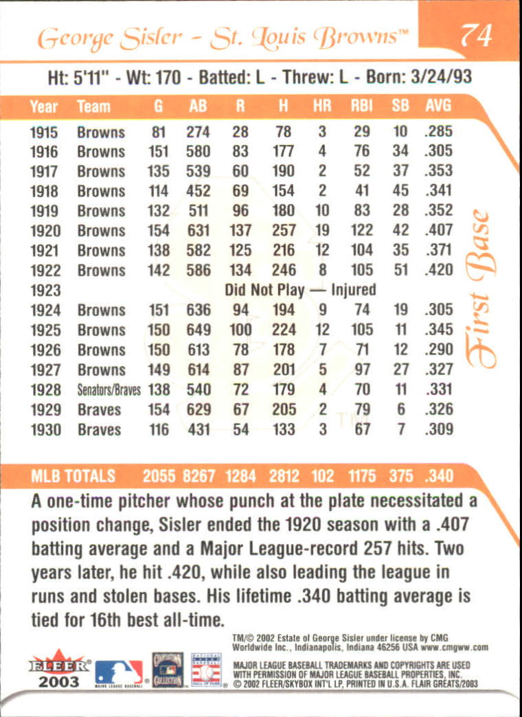 2003-Flair-Greats-BB-Card-s-1-100-Inserts-A1875-You-Pick-10-FREE-SHIP thumbnail 145