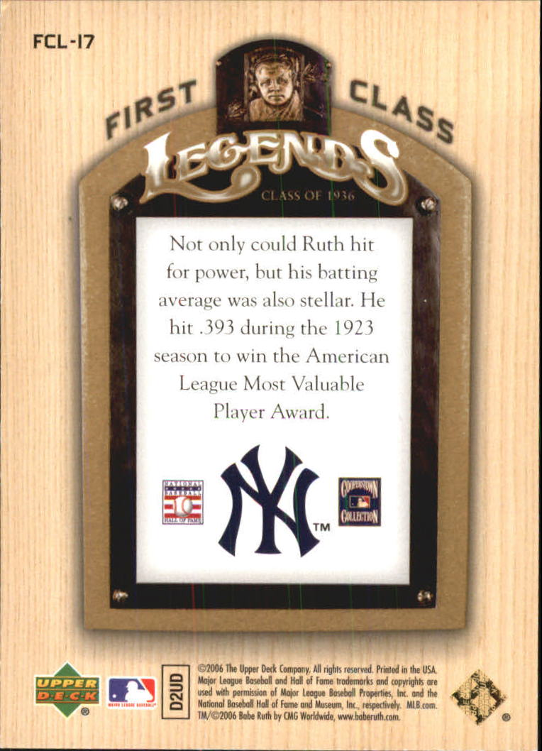 2006-Upper-Deck-First-Class-Legends-Gold-Baseball-Card-Pick miniature 13