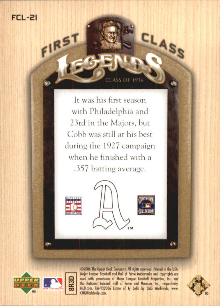 2006-Upper-Deck-First-Class-Legends-Gold-Baseball-Card-Pick miniature 17