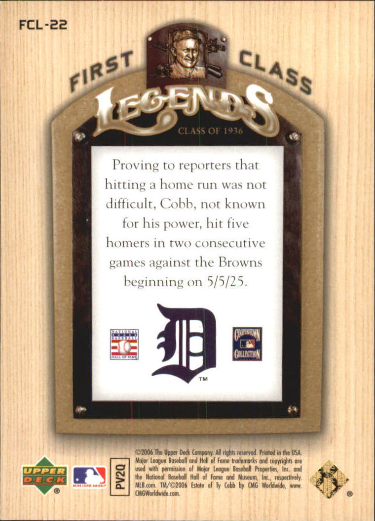 2006-Upper-Deck-First-Class-Legends-Gold-Baseball-Card-Pick miniature 19