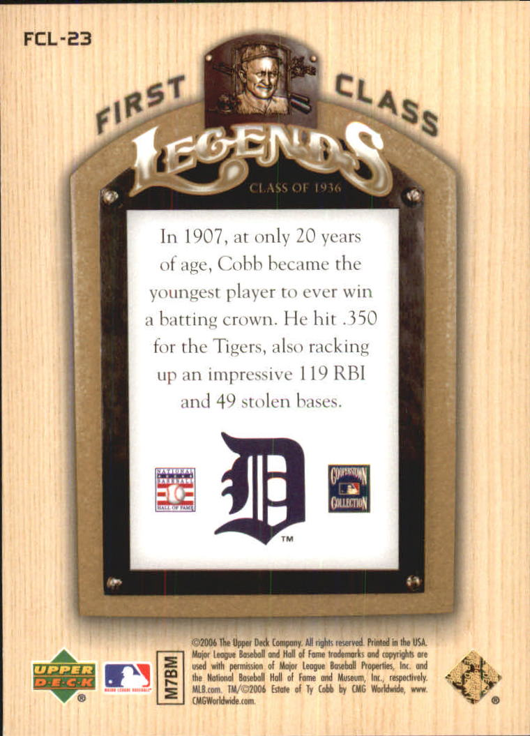 2006-Upper-Deck-First-Class-Legends-Gold-Baseball-Card-Pick miniature 21
