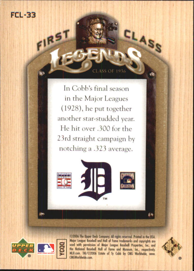 2006-Upper-Deck-First-Class-Legends-Gold-Baseball-Card-Pick miniature 33