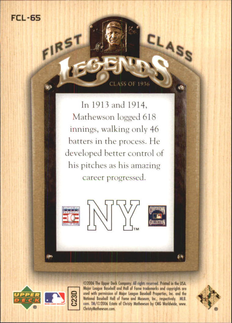 2006-Upper-Deck-First-Class-Legends-Gold-Baseball-Card-Pick miniature 40