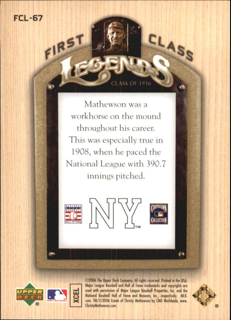 2006-Upper-Deck-First-Class-Legends-Gold-Baseball-Card-Pick miniature 42