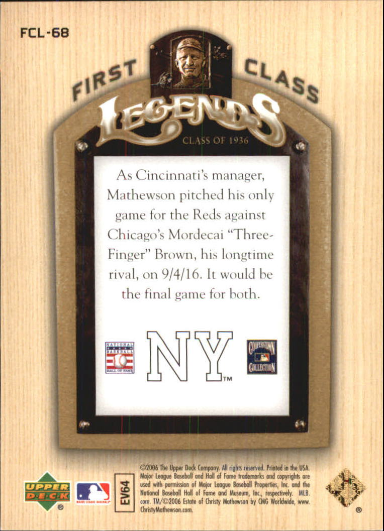 2006-Upper-Deck-First-Class-Legends-Gold-Baseball-Card-Pick miniature 44