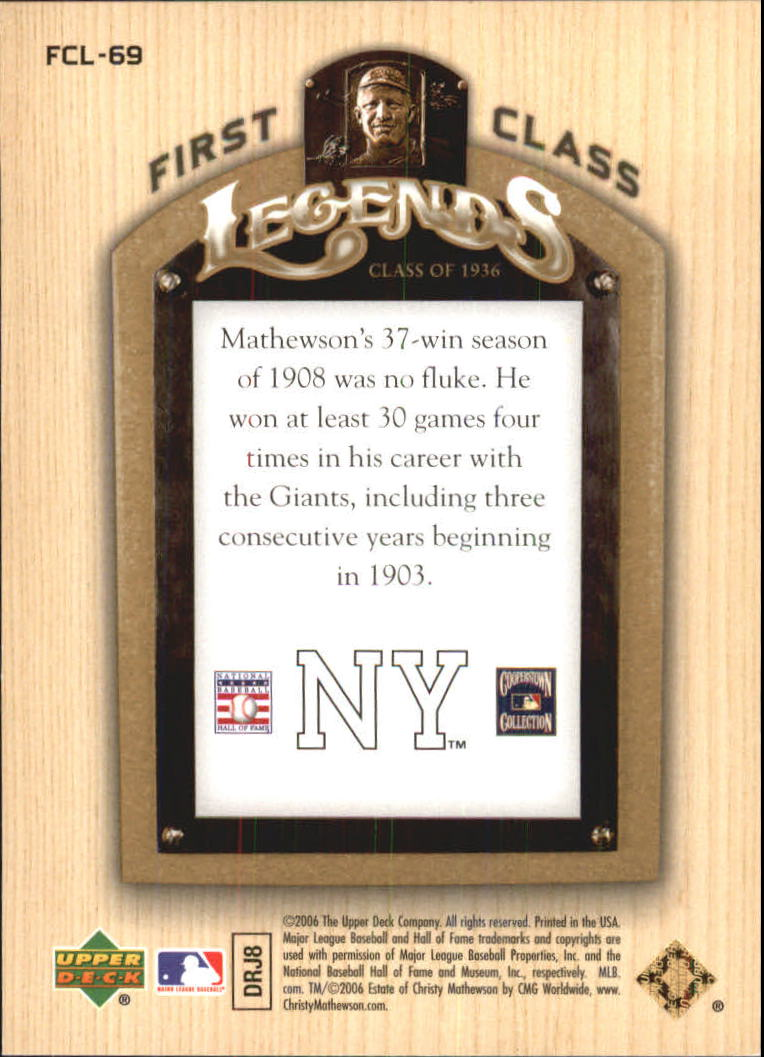 2006-Upper-Deck-First-Class-Legends-Gold-Baseball-Card-Pick miniature 46