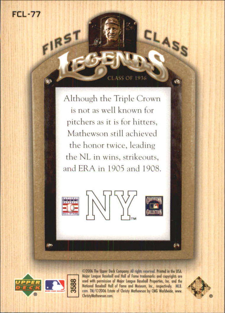 2006-Upper-Deck-First-Class-Legends-Gold-Baseball-Card-Pick miniature 50