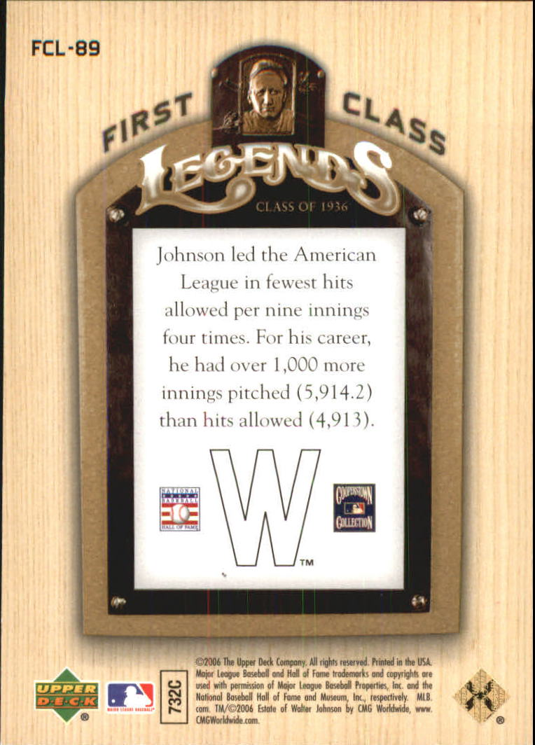 2006-Upper-Deck-First-Class-Legends-Gold-Baseball-Card-Pick miniature 58