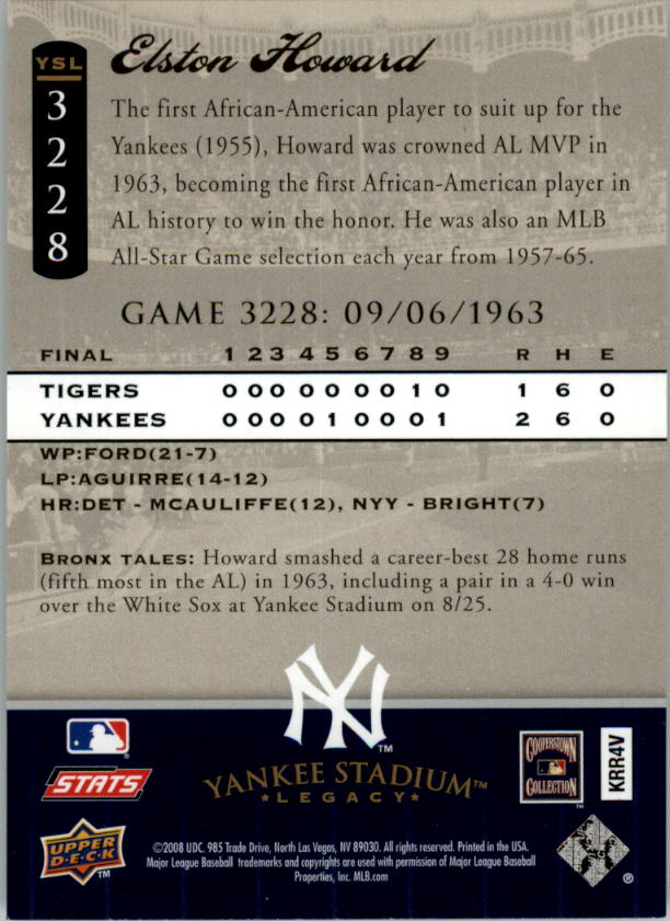 miniature 60 - 2008 UPPER DECK YANKEE STADIUM LEGACY COLLECTION #3000-3999 YOU PICK
