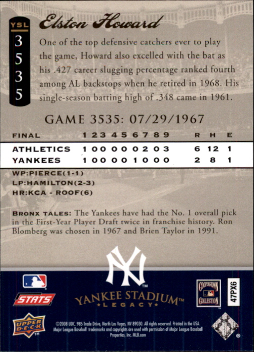miniature 89 - 2008 UPPER DECK YANKEE STADIUM LEGACY COLLECTION #3000-3999 YOU PICK