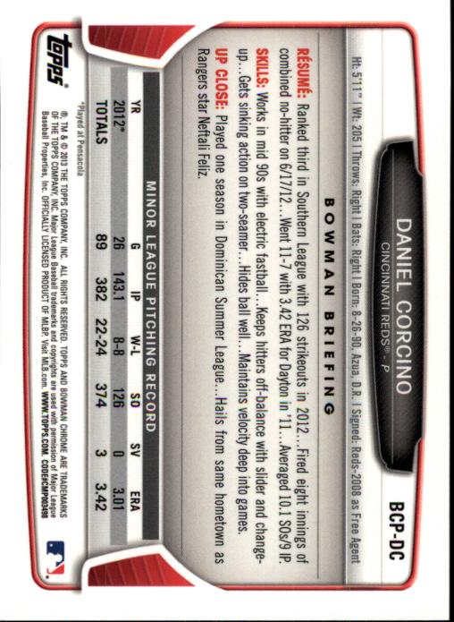 2013-Bowman-Chrome-BB-schede-di-inserimento-automatico-A3393-scegli-10-SPEDIZIONE-GRATUITA miniatura 56