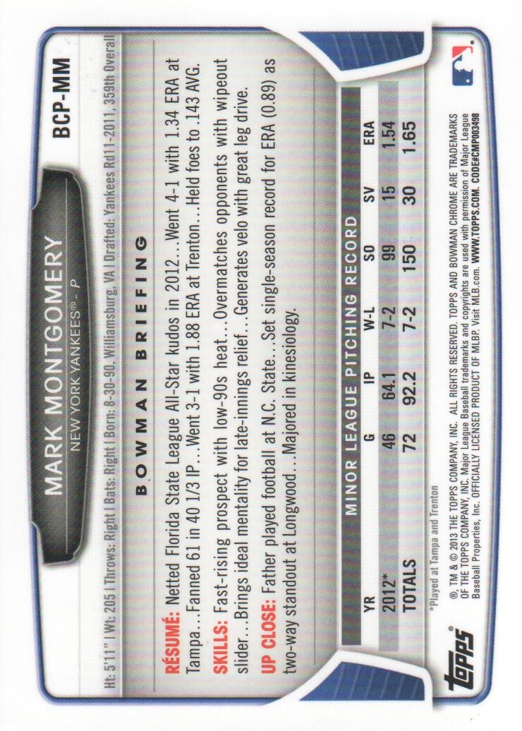 2013-Bowman-Chrome-BB-schede-di-inserimento-automatico-A3393-scegli-10-SPEDIZIONE-GRATUITA miniatura 81