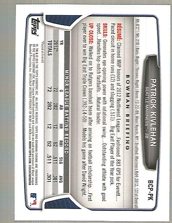 2013-Bowman-Chrome-BB-schede-di-inserimento-automatico-A3393-scegli-10-SPEDIZIONE-GRATUITA miniatura 84