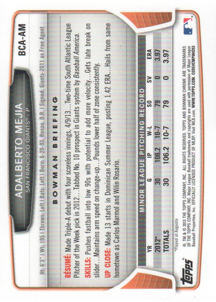2013-Bowman-Chrome-BB-schede-di-inserimento-automatico-A3393-scegli-10-SPEDIZIONE-GRATUITA miniatura 26