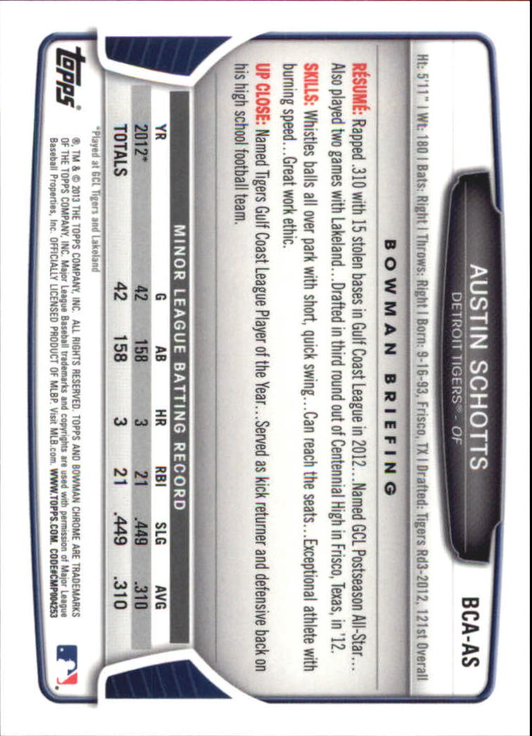 2013-Bowman-Chrome-BB-schede-di-inserimento-automatico-A3393-scegli-10-SPEDIZIONE-GRATUITA miniatura 21