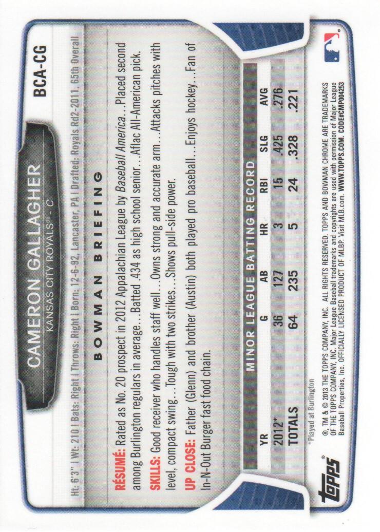 2013-Bowman-Chrome-BB-schede-di-inserimento-automatico-A3393-scegli-10-SPEDIZIONE-GRATUITA miniatura 17