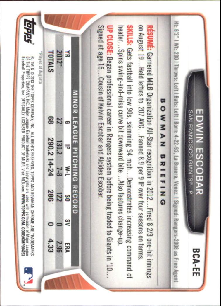 2013-Bowman-Chrome-BB-schede-di-inserimento-automatico-A3393-scegli-10-SPEDIZIONE-GRATUITA miniatura 11