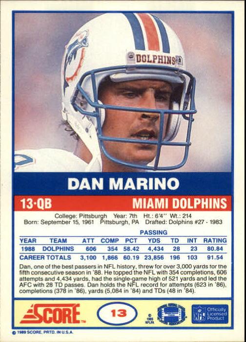 1989-Score-Football-Card-s-1-200-Rookies-A0435-You-Pick-10-FREE-SHIP thumbnail 25