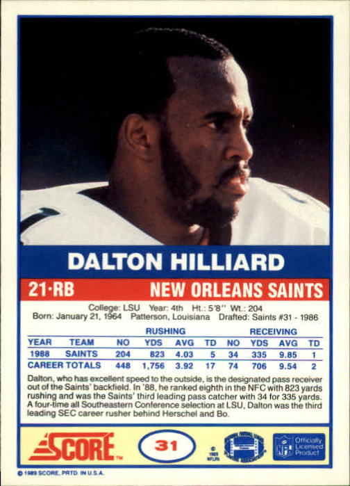 1989-Score-Football-Card-s-1-200-Rookies-A0435-You-Pick-10-FREE-SHIP thumbnail 59