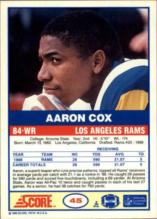 1989-Score-Football-Card-s-1-200-Rookies-A0435-You-Pick-10-FREE-SHIP thumbnail 85