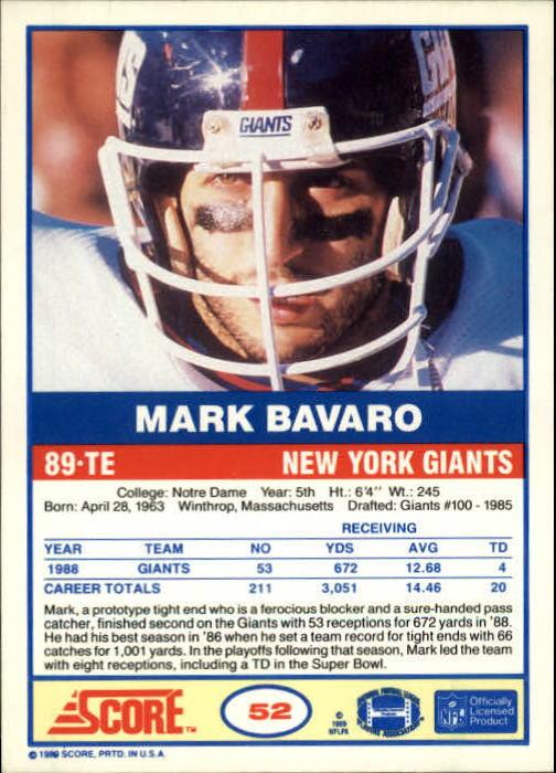 1989-Score-Football-Card-s-1-200-Rookies-A0435-You-Pick-10-FREE-SHIP thumbnail 99