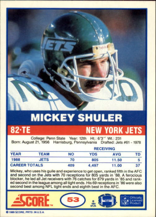 1989-Score-Football-Card-s-1-200-Rookies-A0435-You-Pick-10-FREE-SHIP thumbnail 101