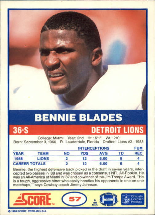 1989-Score-Football-Card-s-1-200-Rookies-A0435-You-Pick-10-FREE-SHIP thumbnail 109