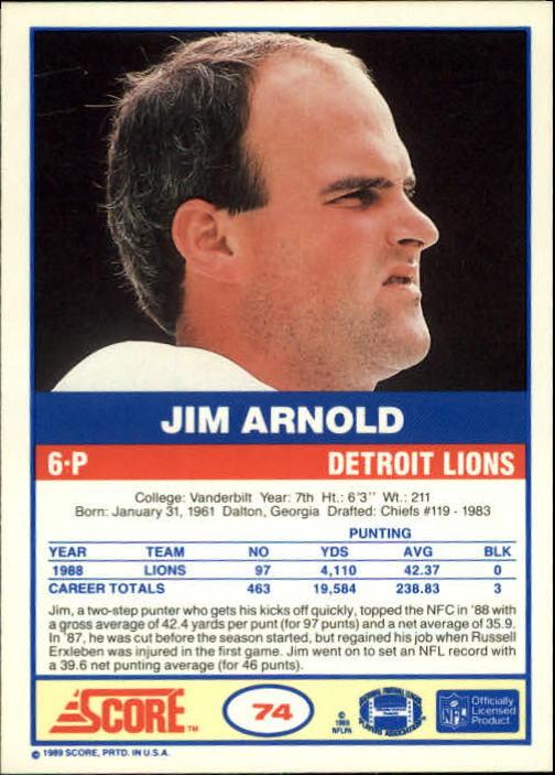 1989-Score-Football-Card-s-1-200-Rookies-A0435-You-Pick-10-FREE-SHIP thumbnail 141