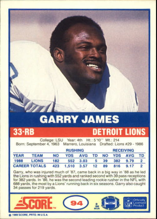 1989-Score-Football-Card-s-1-200-Rookies-A0435-You-Pick-10-FREE-SHIP thumbnail 181