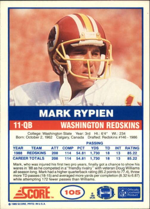 1989-Score-Football-Card-s-1-200-Rookies-A0435-You-Pick-10-FREE-SHIP thumbnail 205