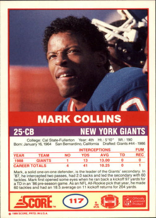 1989-Score-Football-Card-s-1-200-Rookies-A0435-You-Pick-10-FREE-SHIP thumbnail 229