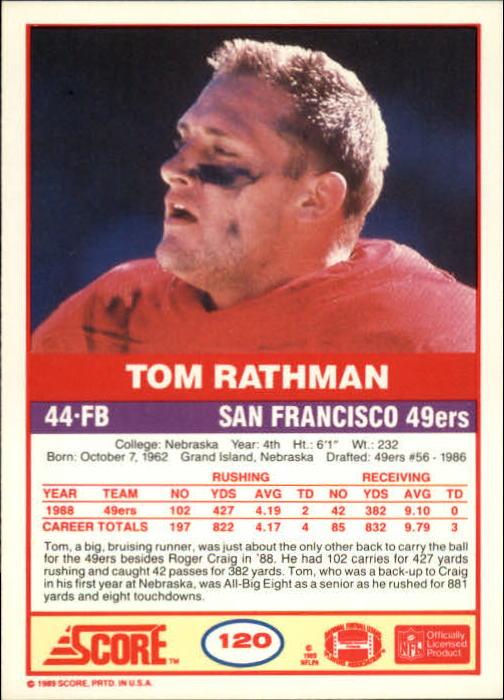 1989-Score-Football-Card-s-1-200-Rookies-A0435-You-Pick-10-FREE-SHIP thumbnail 235