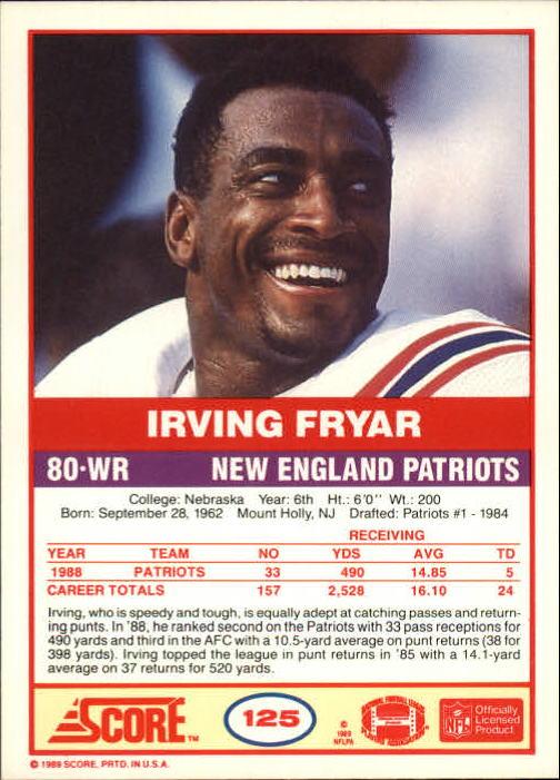 1989-Score-Football-Card-s-1-200-Rookies-A0435-You-Pick-10-FREE-SHIP thumbnail 245