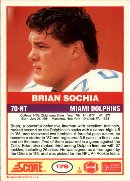 1989-Score-Football-Card-s-1-200-Rookies-A0435-You-Pick-10-FREE-SHIP thumbnail 355
