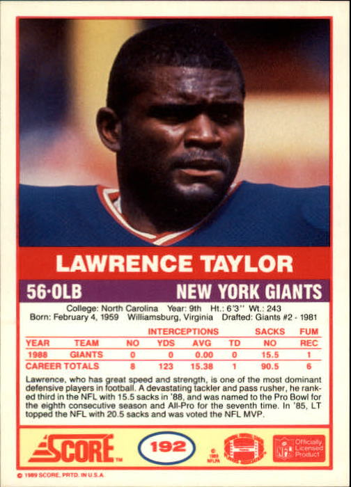 1989-Score-Football-Card-s-1-200-Rookies-A0435-You-Pick-10-FREE-SHIP thumbnail 381