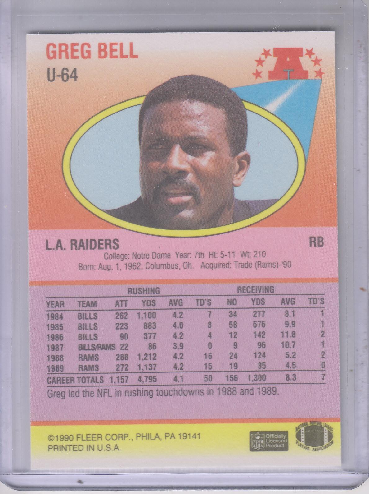 1990-Fleer-Update-FB-Cards-1-120-Rookies-You-Pick-Buy-10-cards-FREE-SHIP thumbnail 117