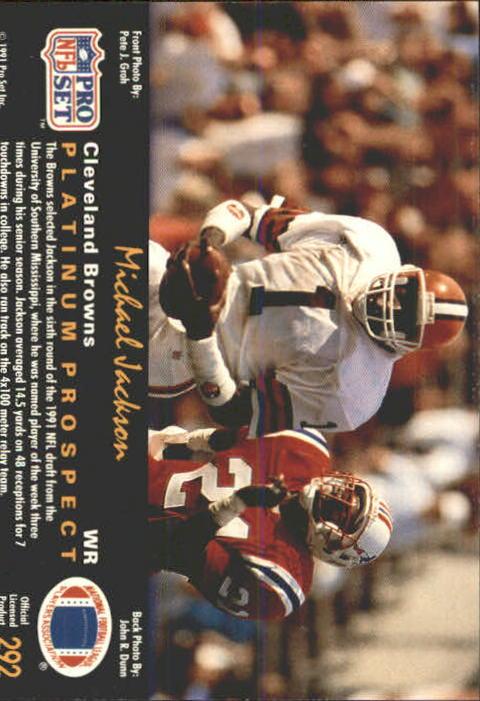 1991 Pro Set Platinum Football ( Card # 284- 315) (Pick ...