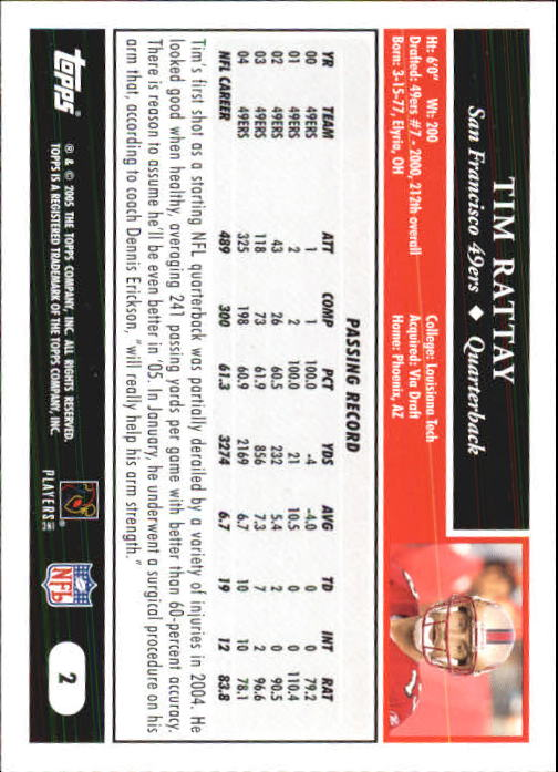2005-Topps-First-Edition-Football-Card-Pick-1-301 thumbnail 5