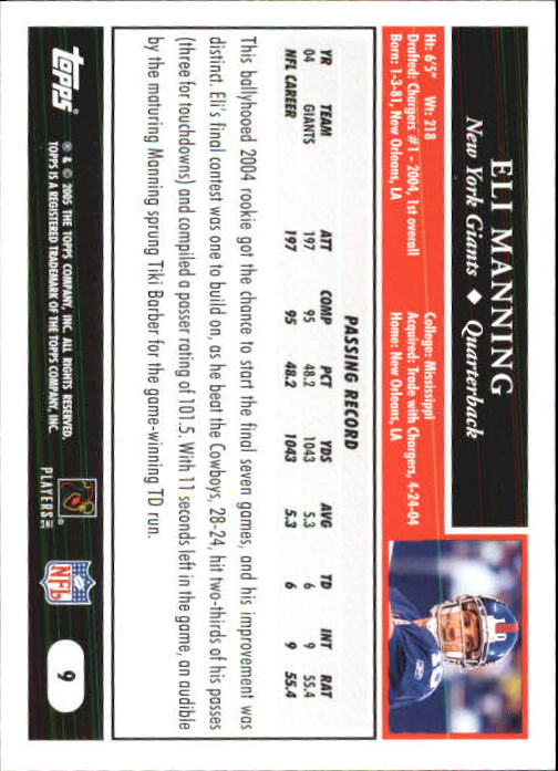 2005-Topps-First-Edition-Football-Card-Pick-1-301 thumbnail 19