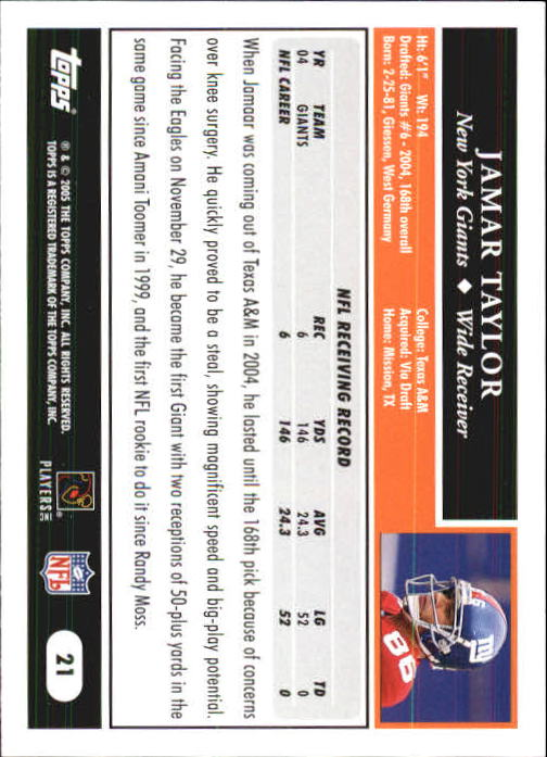 2005-Topps-First-Edition-Football-Card-Pick-1-301 thumbnail 37