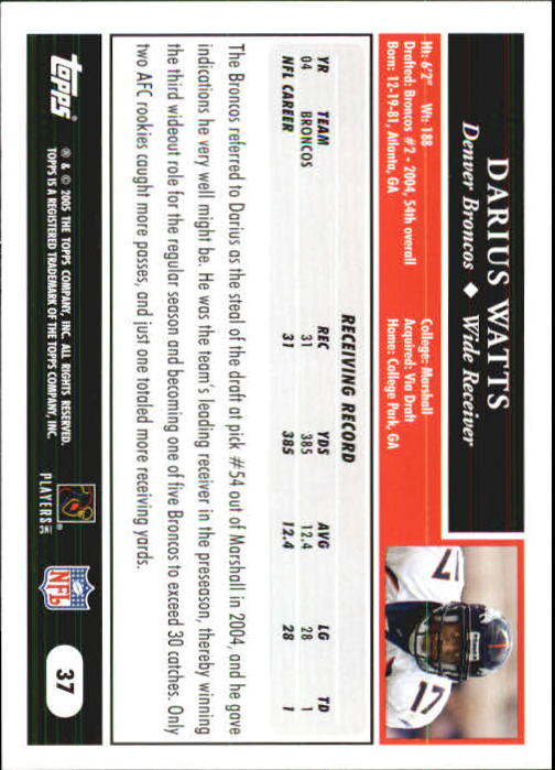 2005-Topps-First-Edition-Football-Card-Pick-1-301 thumbnail 63