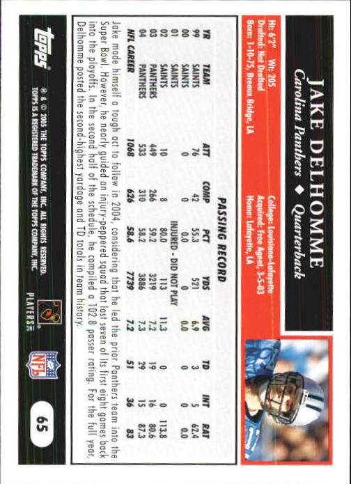 2005-Topps-First-Edition-Football-Card-Pick-1-301 thumbnail 105