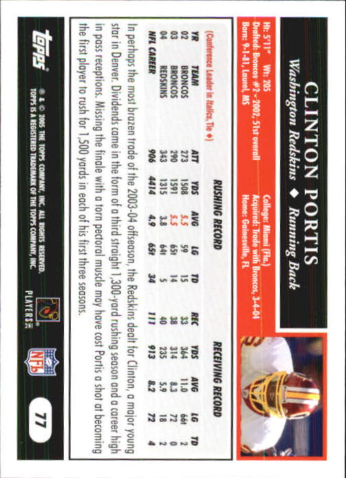 2005-Topps-First-Edition-Football-Card-Pick-1-301 thumbnail 127