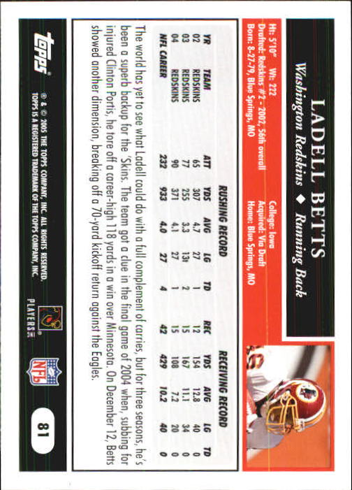 2005-Topps-First-Edition-Football-Card-Pick-1-301 thumbnail 135