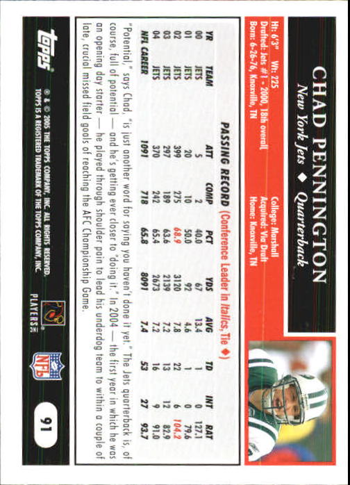 2005-Topps-First-Edition-Football-Card-Pick-1-301 thumbnail 153