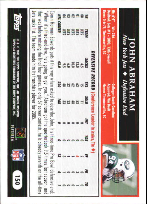 2005-Topps-First-Edition-Football-Card-Pick-1-301 thumbnail 257