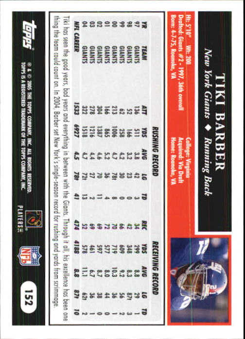 2005-Topps-First-Edition-Football-Card-Pick-1-301 thumbnail 261