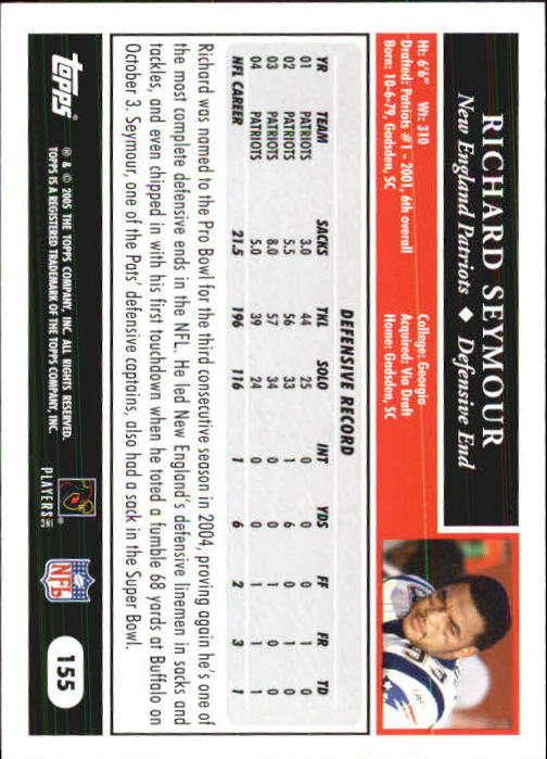 2005-Topps-First-Edition-Football-Card-Pick-1-301 thumbnail 265